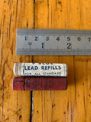 Collectable Vintage wooden propelling pencil refill cases