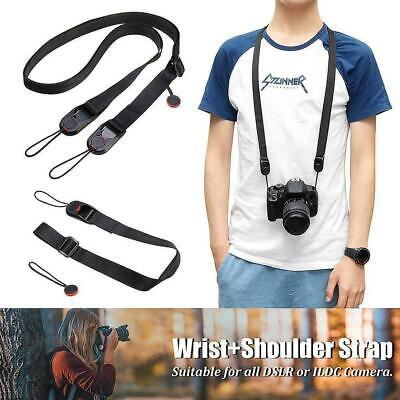 Quick Release DSLR Camera Cuff Wrist Belt Leash Shoulder With Buckle Strap M6C0