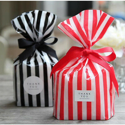 Stripe Candy paper Bag Food Package Gift Party bag Weddings Birthday Recyclable