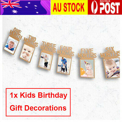 Baby  Birthday Photo Frame Shower Bunting Banner Party Decoration AU