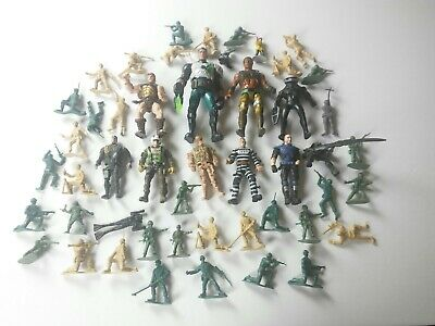 Lot Of Toys and Action Figures Used Military Etc.