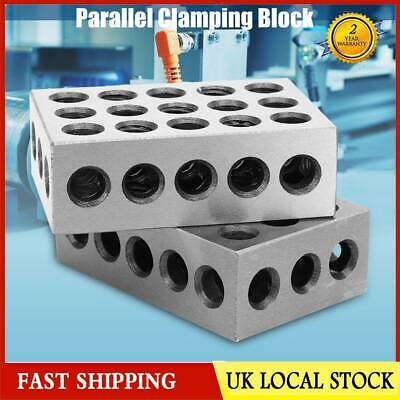 "2Pcs Matched Pair Ultra Precision 2-4-6 Blocks 23 Holes 0.0003"" Machinist Tool"