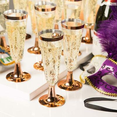 6pcs Disposable Plastic Champagne Glasses Cocktail Glass Party Wine Drink Cup