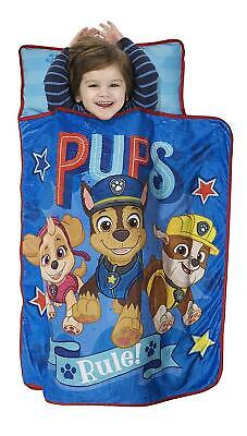Paw Patrol We're A Team Toddler Nap Mat Includes Pillow and Fleece Blanket