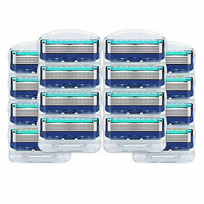 16 Pcs For Gillette FUSION Proglide POWER Replacement Razor Blades 5-layer Blue