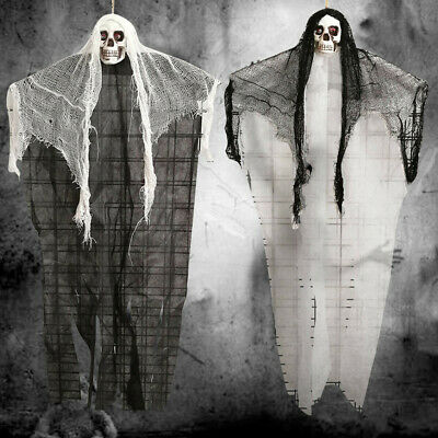 Halloween Hanging Ghosts Decor Voice Party Horror Skull Ghost Props Skeleton