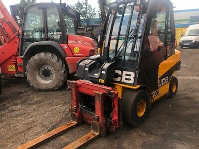 2014 JCB TLT30D TCR Diesel Used Forklift Truck 3t Turn-A-Fork Clamp Attachment