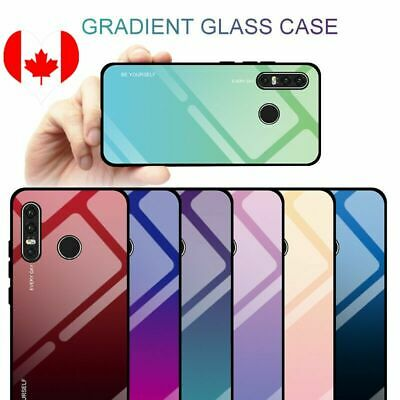 For Huawei P30 Pro P20 Mate20 Nova4 Luxury Gradient Tempered Glass Case Cover