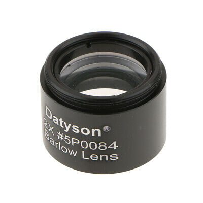 """1.25""""/31.7mm 2X Barlow Lens with M28.6*0.6 Thread for Telescopes Eyepieces"""