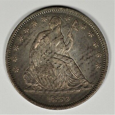 1839 Seated Liberty Half Dollar AU! #AOZ0619