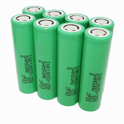 8X 18650 Batterie 2500mAh 3.7V Li-ion Rechargeable 25R High Drain Battery - Vape