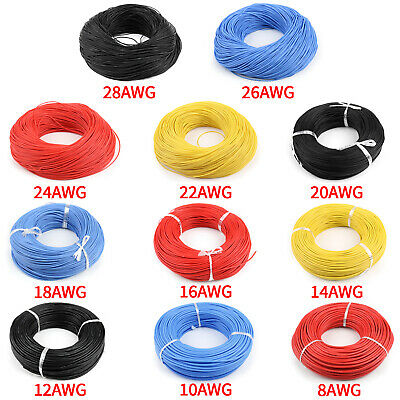 Flexible Stranded Silikon Rubber Wire Kabel 28 26 24 22 20 18 16 14 12 10 8AWG F