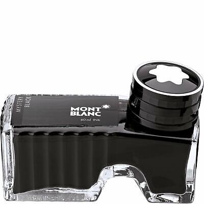 Montblanc Mystery Black Bottled Fountain Pen Ink Inkwell 60ml ~ New/Sealed