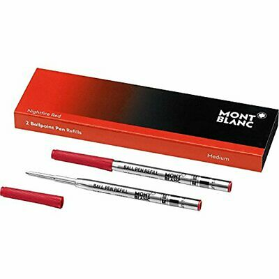 2 NightFire-Red Ballpoint-Pen Refill Medium Point (116215) - By Montblanc
