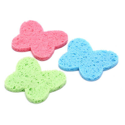 3 butterfly natural wood fiber facial cleansing sponges face mask removal spoSC