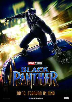BLACK PANTHER POSTER MARVEL MOVIE CC2 PRINT A4 A3 SIZE BUY 2 GET ANY 2 FREE