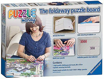 NEW! Ravensburger Puzzle Handy The foldaway puzzle board for 1000 & 500 piece