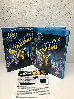 Pokemon Detective Pikachu Blu Ray + Digital HD (NO DVD INCLUDED) Please Read!