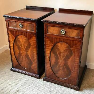 Pair of late victorian solid mahogany pedestal cupboards - JAS Shoolbred