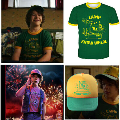 Kid Adult Stranger Things Dustin T-shirts Camp Know Where Tops Shirt Tee Gift UK