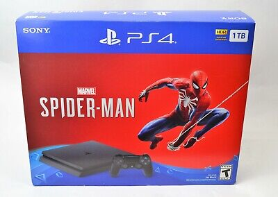 Sony PS4 Marvel Spiderman 1TB Black Console Box ONLY-NO Console Just BOX
