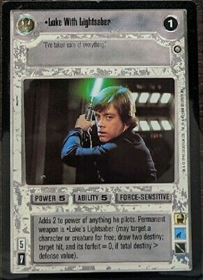 Star Wars CCG Decipher Enhanced Premiere Darth Vader With Lightsaber SWCCG TCG