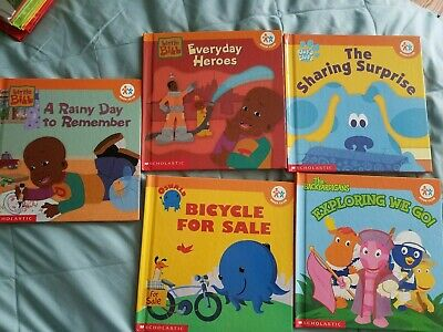 LOT OF 5 children books Nick Jr book club scholastic (Hardcover)