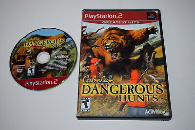 Cabela's Dangerous Hunts Greatest Hits Playstation 2 PS2 Game Disc w/ Case