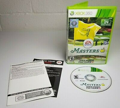 Tiger Woods PGA Tour 12: The Masters (Microsoft Xbox 360, 2011) Complete