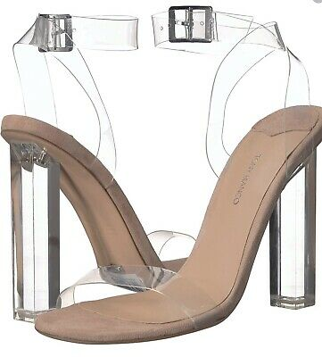 e77fd57819c NEW TONY BIANCO Kiki Heels Clear Nude Suede Sold Out!!! SZ. 9.5