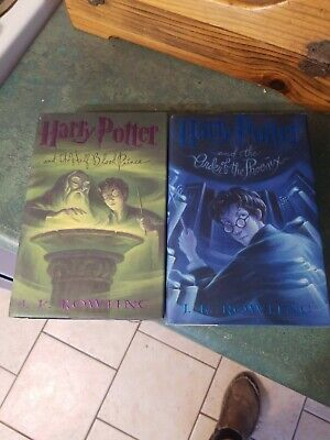 Harry Potter and the Half-Blood Prince, order of the Phoenix JK Rowling (2 books