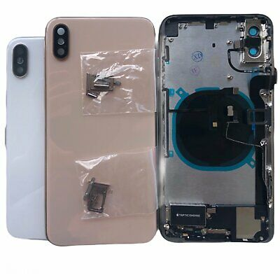Back Glass Housing Battery Cover Frame Assembly For iPhone X XR XS Max W/LOGO