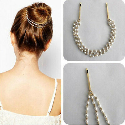 Women Fashion Rhinestone Head Chain Jewelry Headband Head Piece Hair band xxY