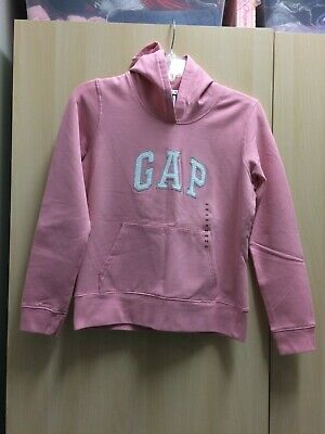 New GAP LOGO Sweatshirt Super SOFT Women's XS Small PINK Fleece Valentine Hoodie