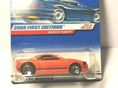 2000 Hot Wheels First Edition Muscle Tone 24//36 Two Color Interior Variations