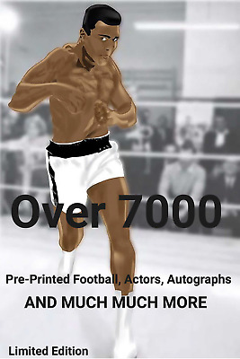 Signed Prints - Pre-Printed Footballers, Sports Men & Women, Actors, Autographs