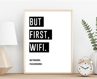 WiFi Motivational Poster Inspirational Print Quote Posters Typography Wall Art