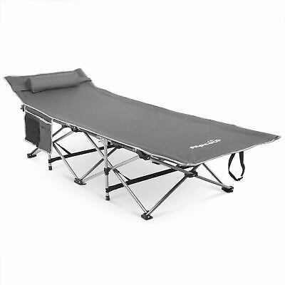 Alpcour Folding Camping Cot – Deluxe Collapsible Single Person Bed in a Bag w/Pi