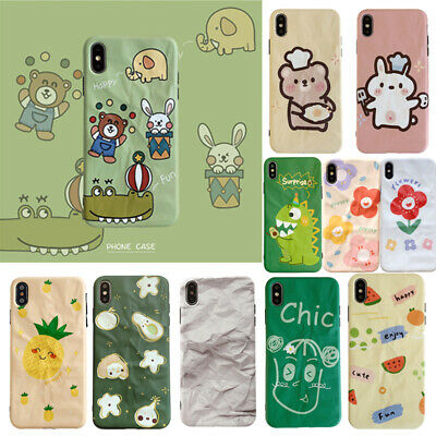 Case For iPhone 6 7 8 X XR XS Max Wrinkled Paper Animals Shockproof Cover Shell