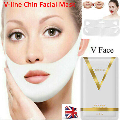 4D V-line Facial Mask Slimming Lifting Firming Compact Double Chin Face Mask-WI