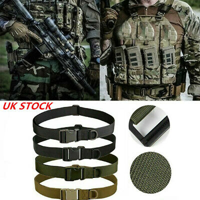 Heavy Duty Army Military Combat Tactical Belt Quick Release Waistband Outdoor UK