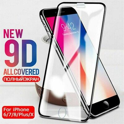 Tempered Glass For iPhone Xs Max XR 7 8 Plus 9D Full Curved Screen Protective AU