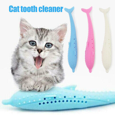 Cat Fish Shape Toothbrush Pet Eco-Friendly Silicone Molar Stick Teeth Clean Toys