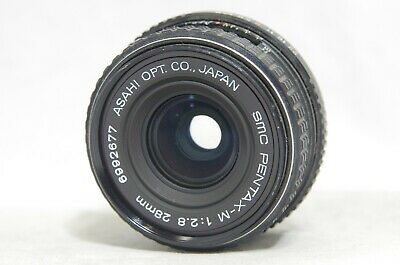 SMC Pentax-M 28mm F/2.8 MF Wide Angle Prime Lens SN6992677 *As-Is*
