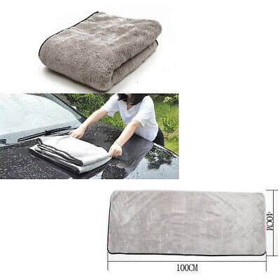 Car Wash Towel Cashmere Cloth 100X40Cm Thick Cleaning Strong Water Absorption