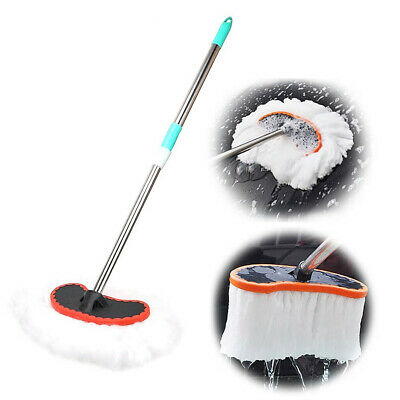 Car Wash Brush Automobile Soft Milk Silk Mop Adjustable Telescopic Handle