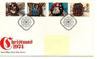 GB - FIRST DAY COVER - FDC - Commems - 1974 - Christmas - Pmk Bethlehem