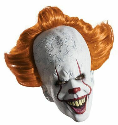 Rubies Pennywise It Overhead Mask Clown Movie 2017 Adult Halloween Costume 68896