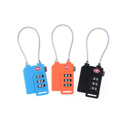 1X TSA Resettable 3 Digit Combination Lock Travel Luggage Suitcase Code PadlocTS