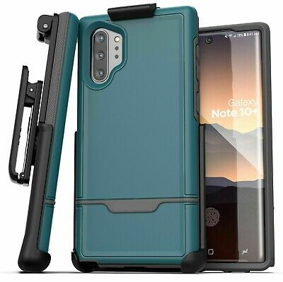 Samsung Galaxy Note 10 Plus Belt Clip Holster Case Cover w/ Holder Blue